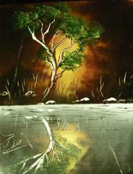 Spraypaint Art Forest 3 by PhilPerron