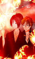 OC - Hey Boys! Natsume and keichiro by KellyKellyPyonn