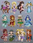 Zodiac Cuties by LCibos