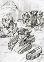 Machine men concepts 2 by Graveyard-Keeper