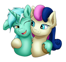 Lyra-Bonbon bust 2 by Coldtrail