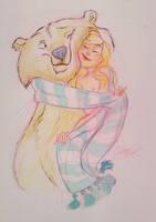 Polarbear hug by enits