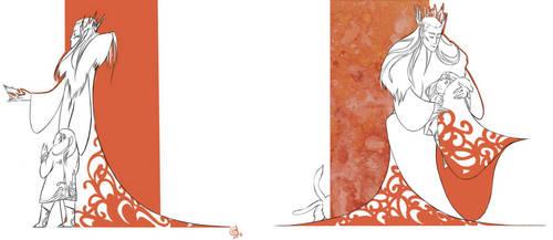 Thranduil and little Legolas by KokorodzasySu