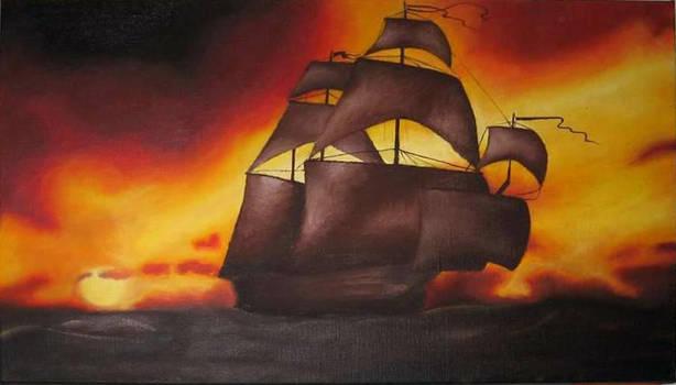 Sailing boat by Petra-B