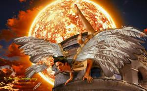 Flight of Icarus by amethystmoonsong