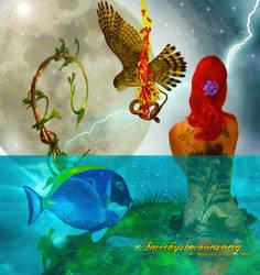 Elemental Medicine Wheel by amethystmoonsong