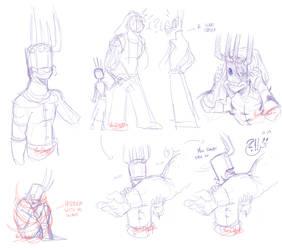 Brutal Legend AU - Sketches: Childhood by Yore-Donatsu