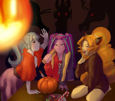 A Dazzling Halloween by AmazingPuffhair