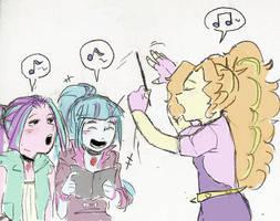 Dazzlings' daily rehearsal by AmazingPuffhair