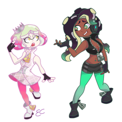 Pearl and Marina Redraw by Falcon1386