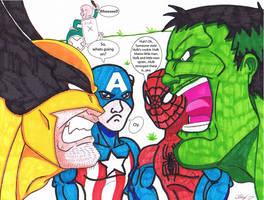 Hulk Vs Wolverine XXXXVVVVIII by KaiJuAlex