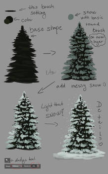 -= Tutorial: Evergreen tree =- by Naia-Art