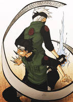 Naruto - Kakashi Iruka by pandabaka