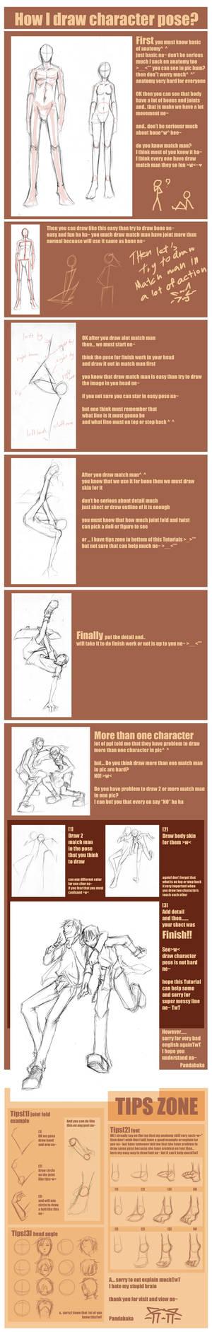 How I draw char. pose by pandabaka