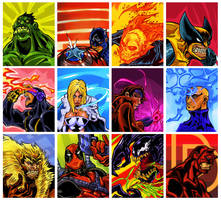 Marvel cards by eldeivi