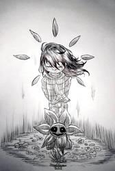 Inktober 8th: Heartbroken by Samukassem14