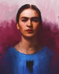 Un Ritratto di Frida Kahlo by L-E-N-T-E-S-C-U-R-A