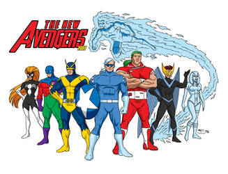 The New Avengers 1987 by fredmast