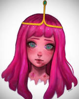 Princess Bubblegum fanart by morgyuk