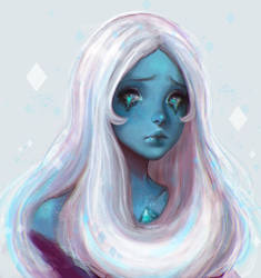 Blue Diamond fanart by morgyuk