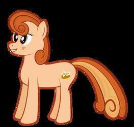 [Original] Cinnamon Bun Pony by gwennie-chan