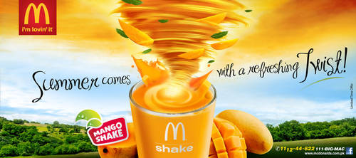 McDonalds Mango Shake KV by creavity