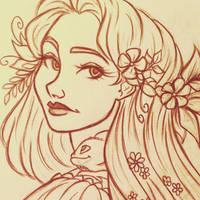 Rapunzel sketch by 7Lisa