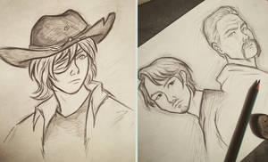 TWD sketches by 7Lisa