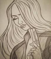 Black Widow sketch by 7Lisa
