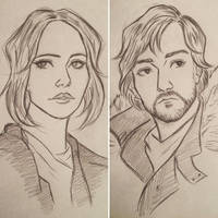 Jyn Erso and Cassian Andor by 7Lisa