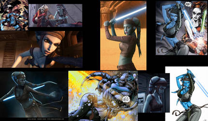 Aayla Secura Collage by MADBlacklord