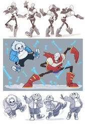 Undertale- Skelebros by MadJesters1