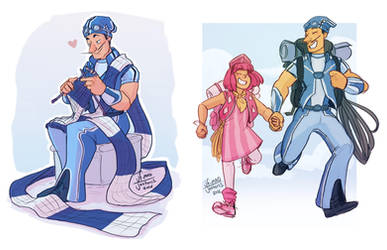 Lazy Town- Sportacus and Stephanie by MadJesters1