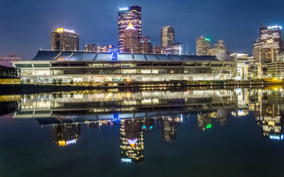 Convention Center at Night by StevenJP
