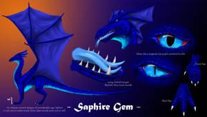 Commission: Saphire Gem by Sashafras