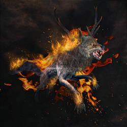Burning Beast of Hell by IrondoomDesign