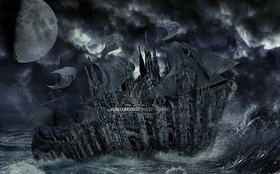 Dark City Floating by IrondoomDesign