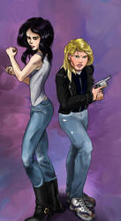 Jessica Jones and Trish by kkcooly