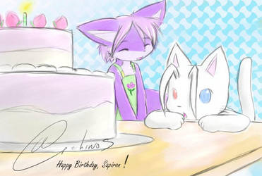 A Belated Birthday Cake by Archinos