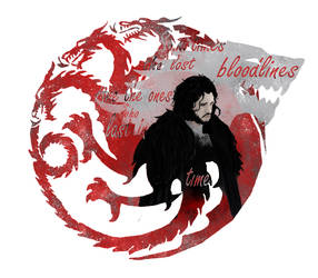  Game of Thrones  The Targaryen Wolf by TheBlueArchAngel