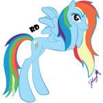 Rainbow Dash (Love is Magic) by IshioShima