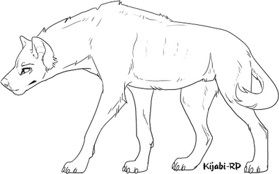 F2U Hyena Lineart by Kijabi-RP