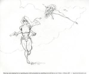 Ninja Spy Lady by spacecow4