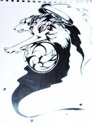 Okami Tattoo design by Pie-Master-Pru