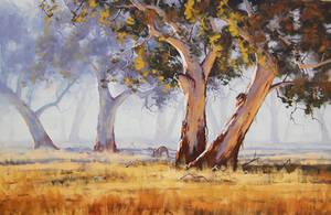 Australian Gum trees by artsaus