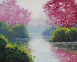 Misty Stream by artsaus