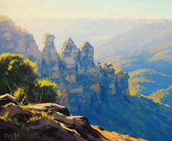 Three Sisters Painting by artsaus