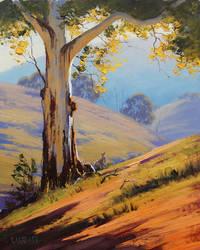 Gum and Kangaroo by artsaus