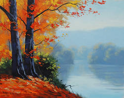 Autumn-lake-prints by artsaus