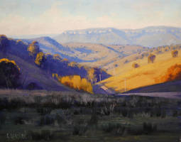 Summer landscape painting by artsaus